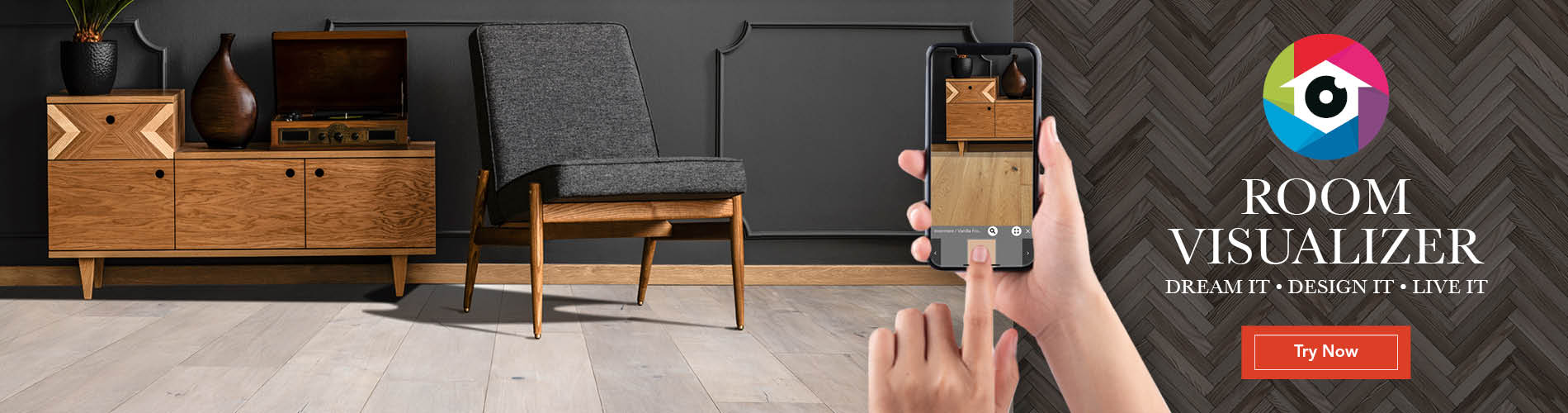 See our flooring in YOUR room with our Room Visualizer tool.